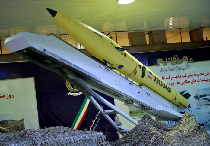 Fateh 313 short-range ballistic guided missile has a range of 500 km.