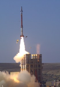 The interceptor used with the new David's Sling Weapon System is the Stunner missile, developed by Israel's RAFAEL Advanced Defense Systems and the US Raytheon company. Photo: IMOD