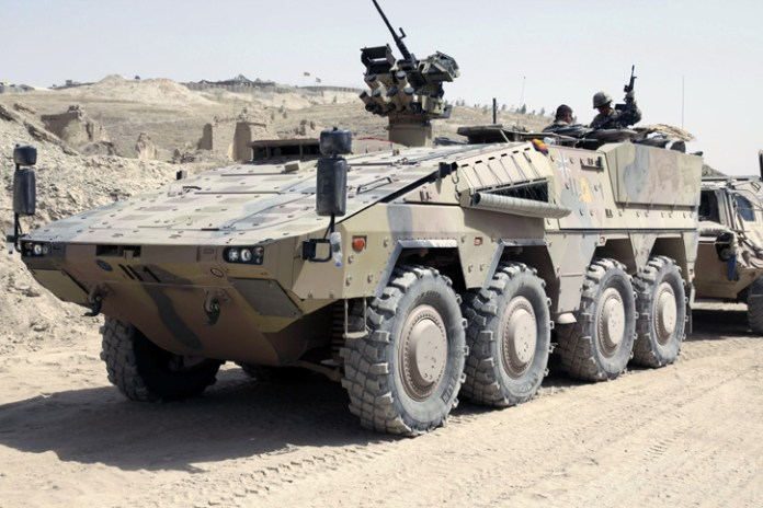 The Boxer APC was recently used in Afghanistan, supporting the German contingent with ISAF. Photo: KMW