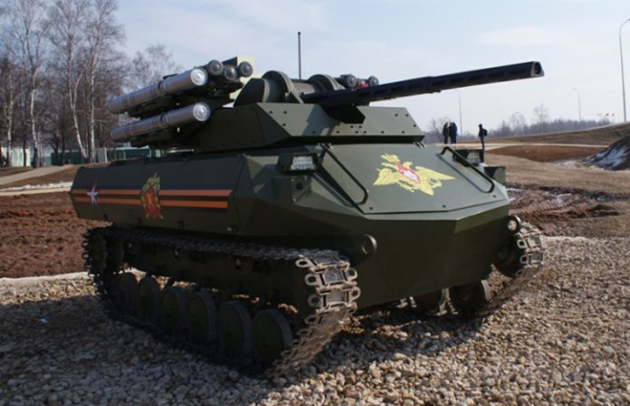 Uran-9 utilizes a specially developed platform and weapon complex.