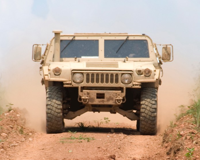 The SCTV uses the basic HMMWV chassis with significant modifications, a new steel capsule, more powerful engine and improved protection. With the SCTV modification the vehicle is heavier but also more protected and more maneuverable than an up-armored HMMWV. Photo: Textron Systems