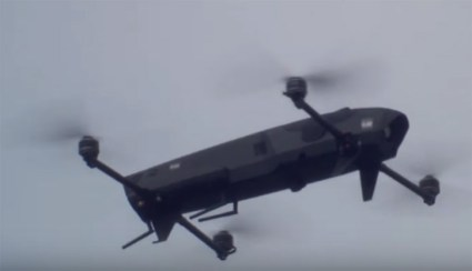 The ROTEM-L quadrotor can be assembled as a loitering weapon carrying a warhead weighing one pound, or reconnaissance sensor, supporting mission endurance up to 45 minutes.