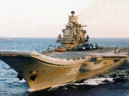 Russian Navy aircraft carrier Admiral Kuznetsov.