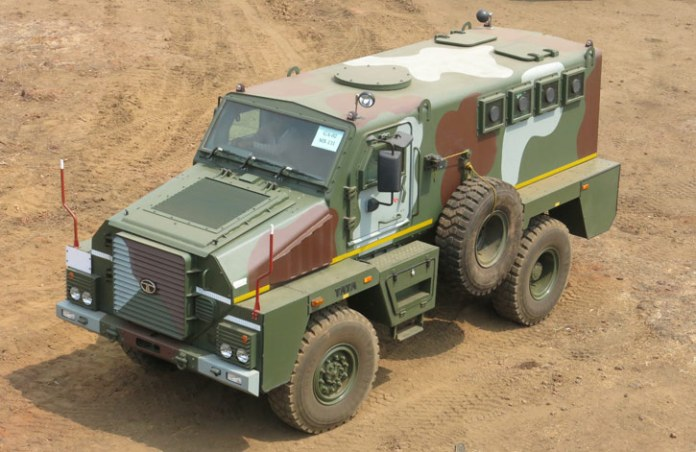The MPV was developed by Tata Motors Defense unit, under the company's strategic expansion of its defense solutions, from logistical and utility vehicles to the design shift to broader mobility solutions for the military, providing all types of platforms. Photo: Noam Eshel, Defense-Update.