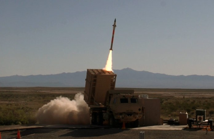 Rafael's Tamir interceptor missile fired from the US Army's Multi-Mission Launcher (MML) at the White Sands Missile Range. Photo: US Army