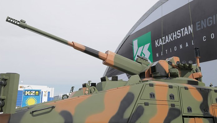 The AU220M remotely controlled turret loaded with the powerful 57mm automatic cannon. Photo: UVZ