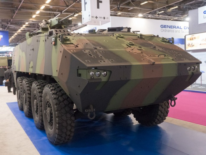 Piranha 5 from GDLE Europe has been selected by the Danish Army as a successor of the M113 that will soon complete 50 years of service. The vehicle employs an advanced protection system developed by Plasan. Photo: Noam Eshel, Defense-Update