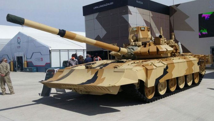 Part of this modernization is to equip the T-72 to be more effective and less vulnerable to close-in threats, such as obstacles, mines, IEDs and RPGs, all characteristic of urban warfare, The Russian company has designed this urban warfare kit based on the experience of the war in Syria. Photo: Dan Zeevi.