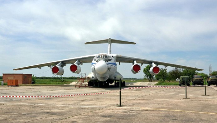 The Beriev A-60 on the flight line at Taganrog.