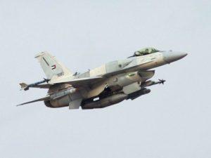 طائرة إماراتية من طراز F-16 Block 60 تقلع بعد نقلها من مصنع لوكهيد مارتن في فورت وورث، تكساس. (صورة: ديفيد رايكوفيتز عبر WikiMedia)