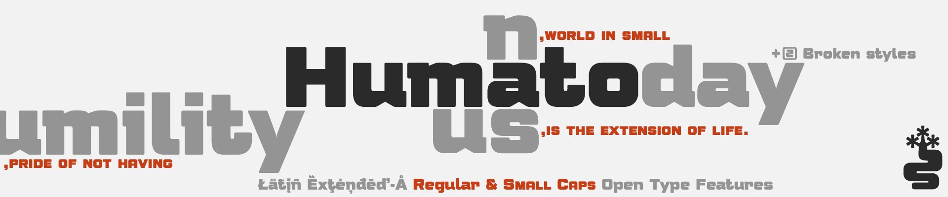 Humato Typefaces - Latin Extended-A - Open Type Features