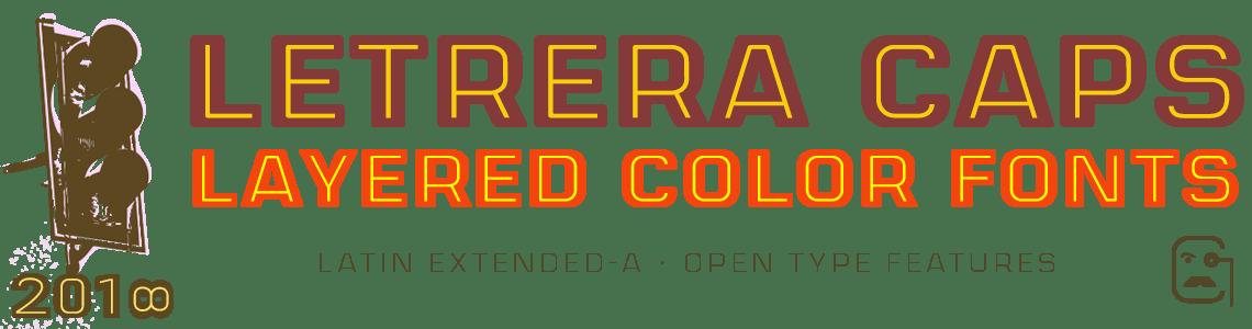 Letrera Caps Layered Color Fonts