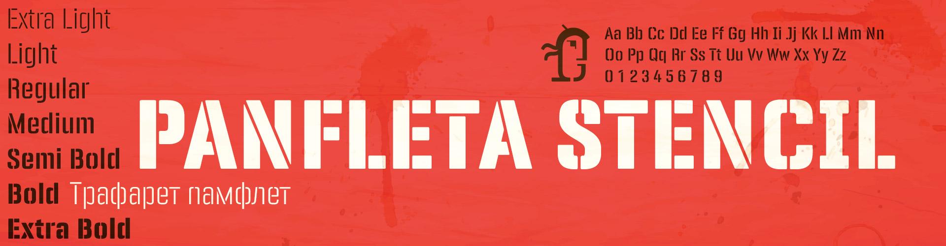 Panfleta Stencil Fonts Latin Extended-A & Cyrillic