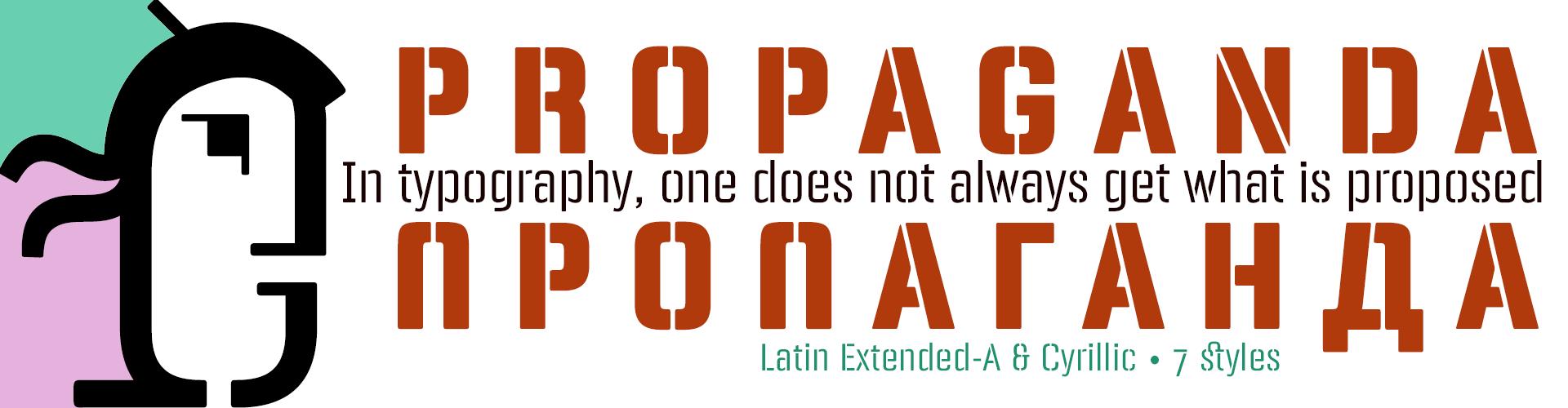 Panfleta Stencil Typefaces- Latin Extended-A & Cyrillic