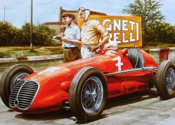 Afiches coches europeos clasicos