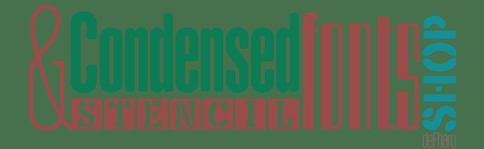 Condensed & Stencil Font Shop by deFharo