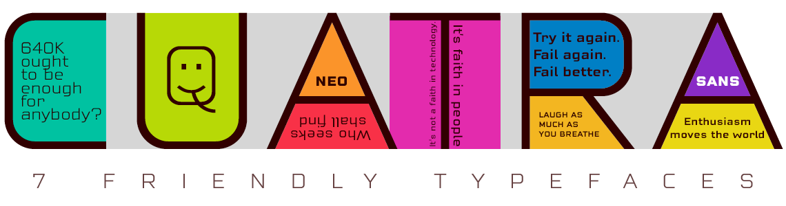 Cuatra Sans - 7 friendly Typefaces