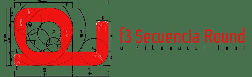 F3 Secuencia Round, a Fibonacci font