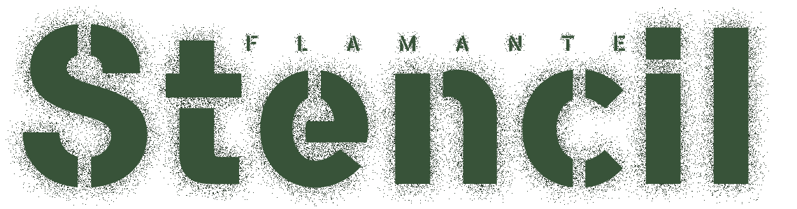 Flamante Stencil Typeface Family