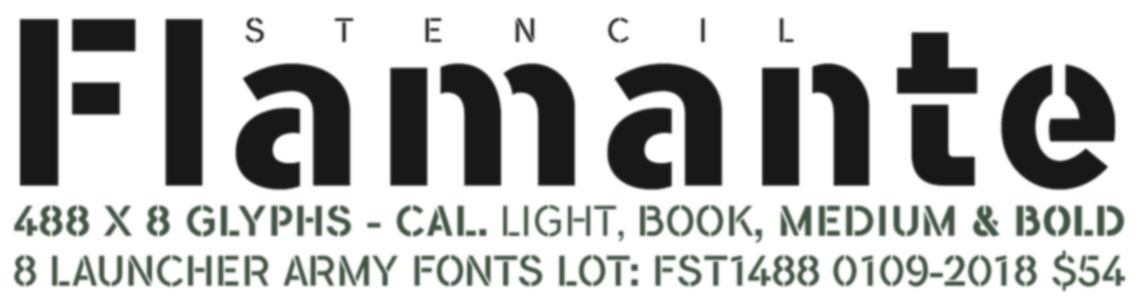 Flamante Stencil Family Fonts