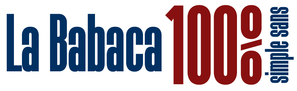 La Babaca 100% Simple Sans Ultra Condensed