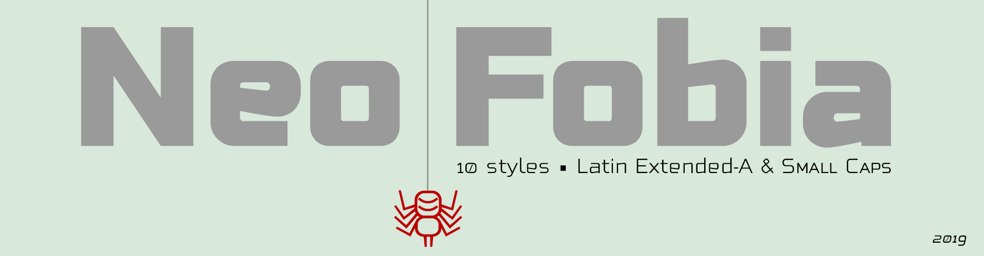 Neo Fobia 10 styles. Latin Extended-A & Small Caps