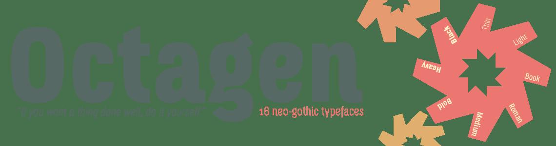 Octagen Condensed Typeface - 16 Styles
