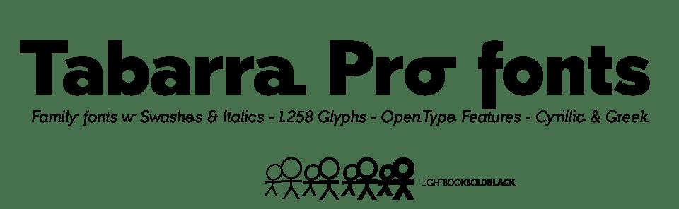 Tabarra Pro Sans Typeface Family. Cyrillic & Greek