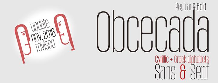 Obcecada Sans & Serif Condensed