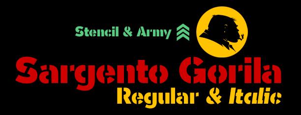 Sargento Gorila Fonts
