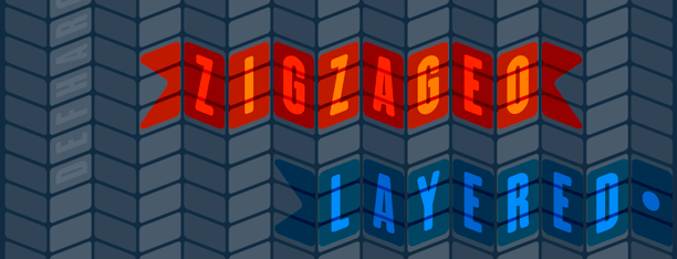 Zigzageo Layered -3 fonts-