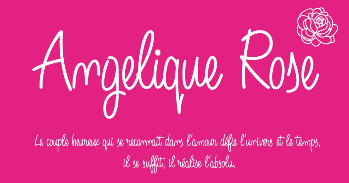 Download Angelique Rose, script font 2016 | Latin extended | Manuscrita