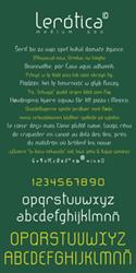 Lerótica medium typeface. Extended character set