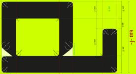Tipografía geométrica con proporciones Fibonacci 2014
