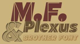 Tipografía sin serif estilo modernista