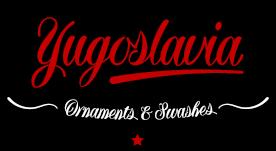 Yugoslavia, calligraphic font