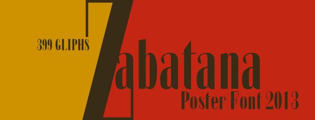 Zabatana Poster -2 Fonts-