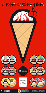 Diseño de Cartel de supermercado para marca de helados italianos