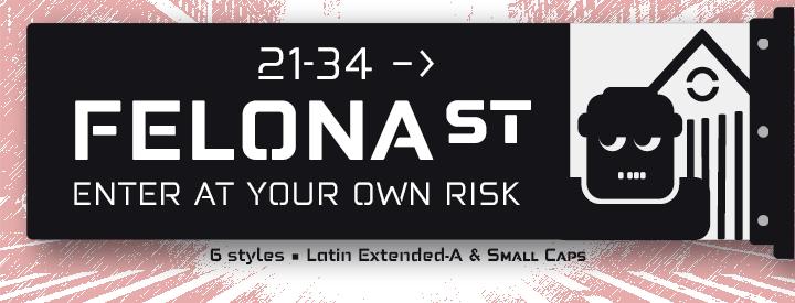 Felona st. [Neo-Stencil Typeface]
