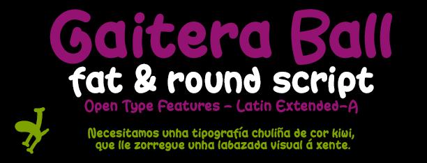 Gaitera Ball, XXL script font