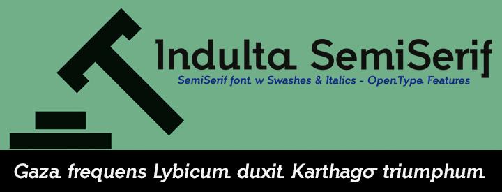 Indulta SemiSerif Fonts