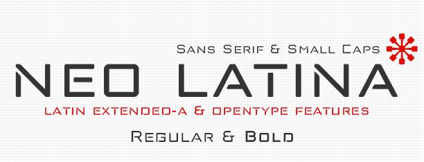 Neo Latina fonts