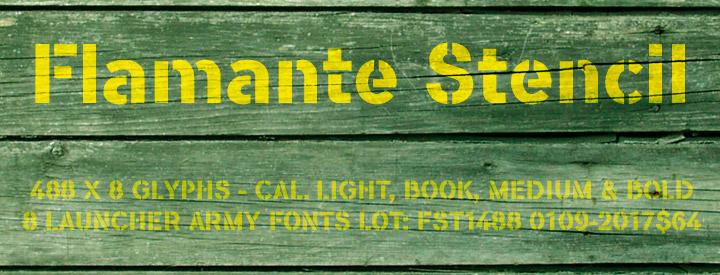 Flamante Stencil fonts