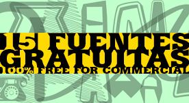 15 Fuentes gratis para descarga
