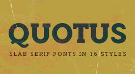 Quotus Slab Serif