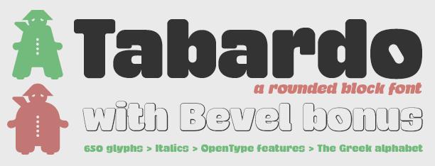 Tabardo -4x1 Fonts-