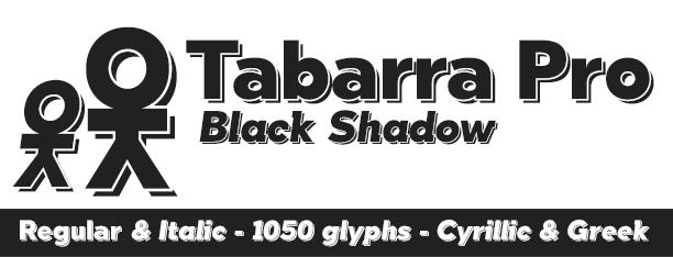Tabarra Shadow Pro -2x1 Fonts-