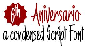 6th Aniversario -letra publicitaria-