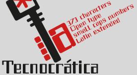 Tecnocrática, industrial font