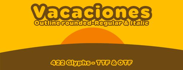 Vacaciones -2x1 Fonts-